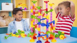 知育玩具 おもちゃ カラフルスロープ